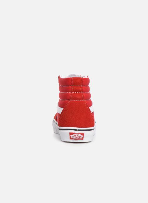 Baskets Vans SK8-Hi W Rouge vue droite