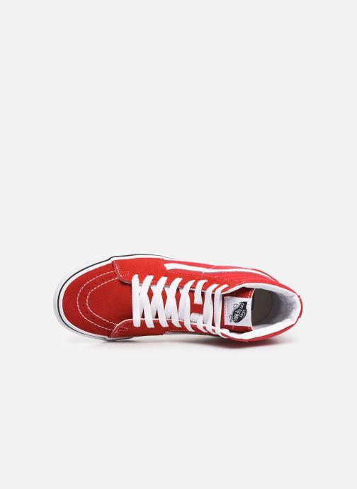 Baskets Vans SK8-Hi W Rouge vue gauche