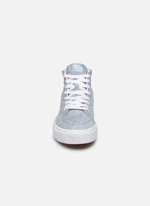Sneaker Vans SK8-Hi W blau schuhe getragen