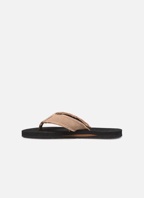 Flip flops Cool Shoe Deep Brown front view
