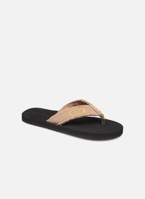 Flip flops Cool Shoe Deep Brown detailed view/ Pair view