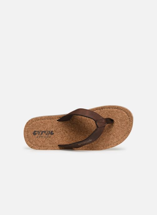 Flip flops Cool Shoe Sin Brown view from the left