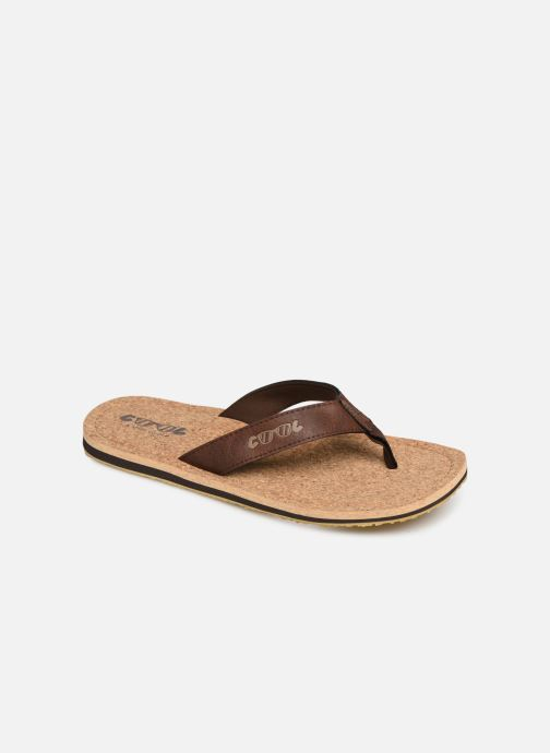 Flip flops Cool Shoe Sin Brown detailed view/ Pair view