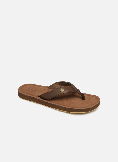 Flip flops Cool Shoe Pilat Brown detailed view/ Pair view