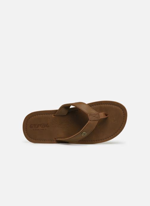 Chanclas Cool Shoe Pilat Beige vista lateral izquierda