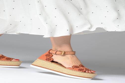 Sandales et nu-pieds See by Chloé Glyn Platform Espadrille Orange vue bas / vue portée sac