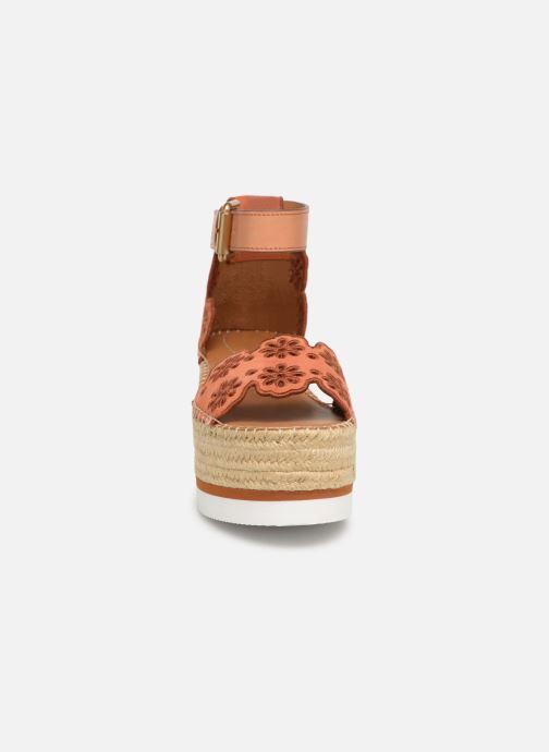Sandalias See by Chloé Glyn Platform Espadrille Naranja vista del modelo