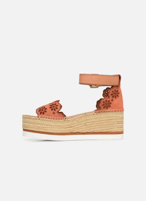 Sandales et nu-pieds See by Chloé Glyn Platform Espadrille Orange vue face