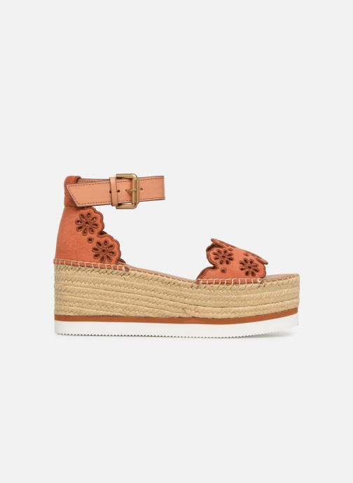 Sandales et nu-pieds See by Chloé Glyn Platform Espadrille Orange vue derrière