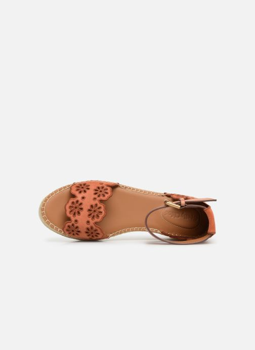 Sandales et nu-pieds See by Chloé Glyn Platform Espadrille Orange vue gauche