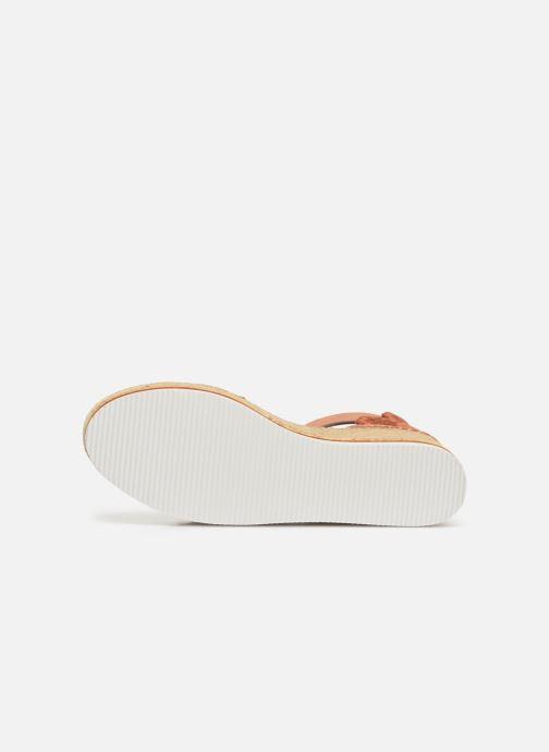 Sandales et nu-pieds See by Chloé Glyn Platform Espadrille Orange vue haut