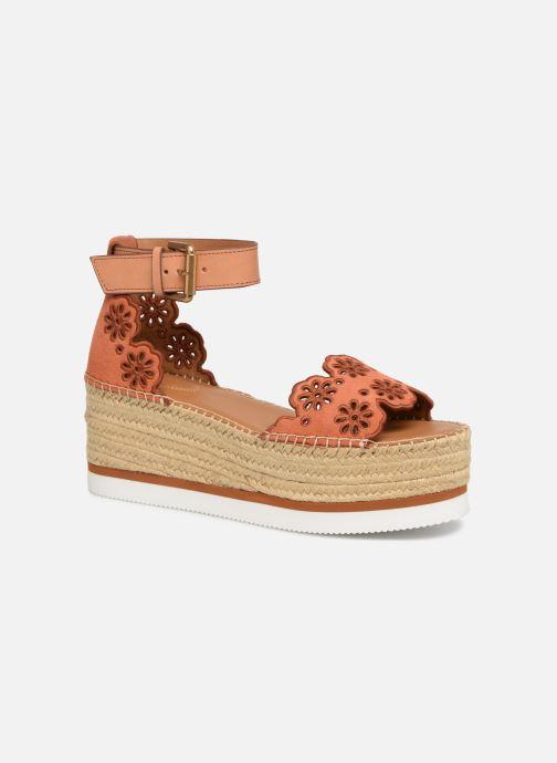 Sandales et nu-pieds See by Chloé Glyn Platform Espadrille Orange vue détail/paire