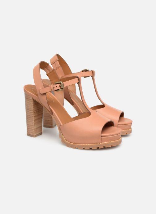 Sandales et nu-pieds See by Chloé Brooke Marron vue 3/4
