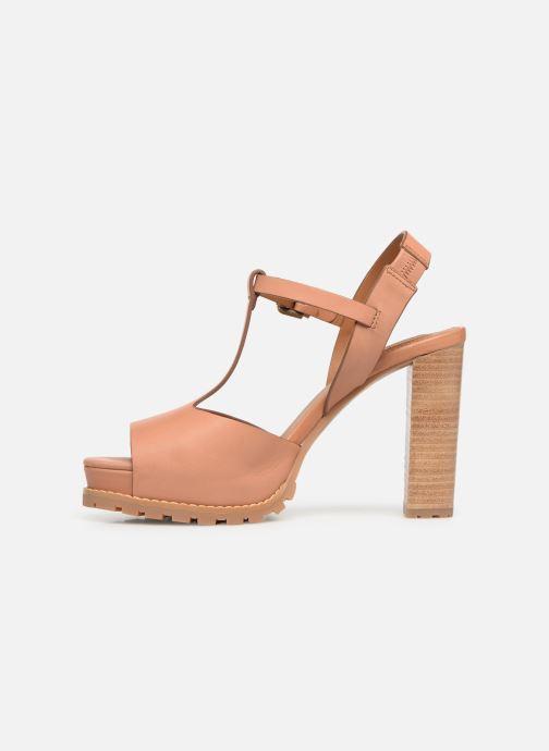 Sandales et nu-pieds See by Chloé Brooke Marron vue face