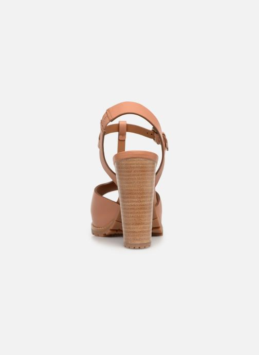 Sandales et nu-pieds See by Chloé Brooke Marron vue droite