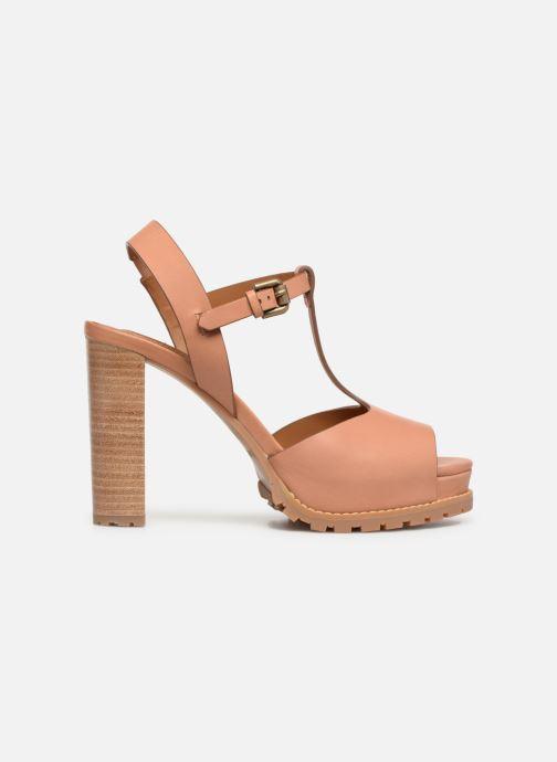 Sandales et nu-pieds See by Chloé Brooke Marron vue derrière