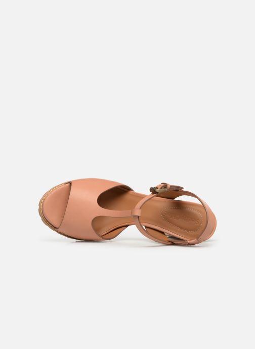 Sandales et nu-pieds See by Chloé Brooke Marron vue gauche