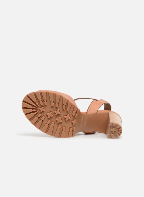 Sandales et nu-pieds See by Chloé Brooke Marron vue haut