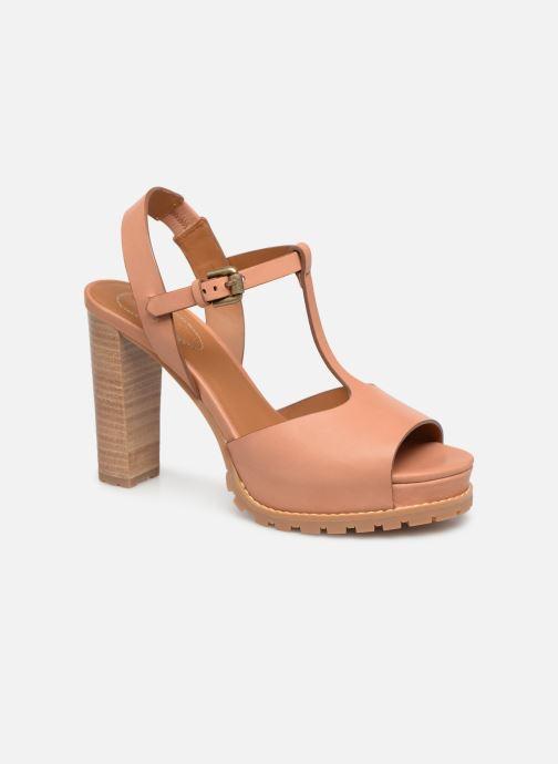 Sandales et nu-pieds See by Chloé Brooke Marron vue détail/paire