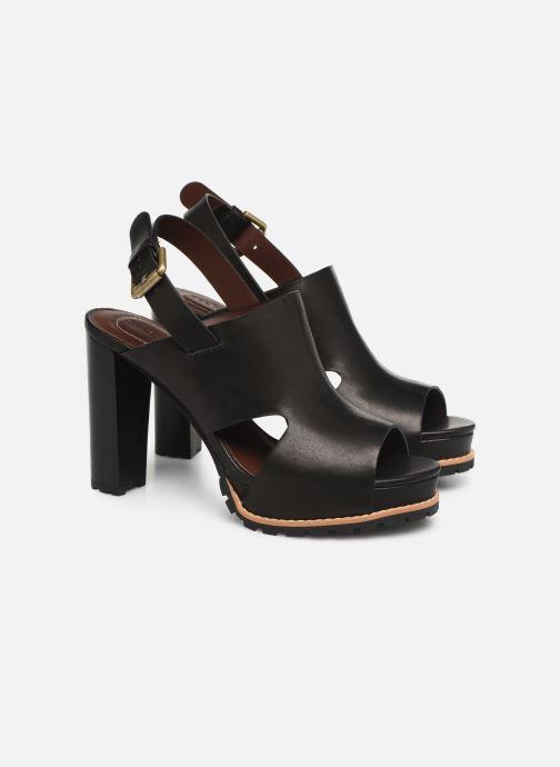 Sandales et nu-pieds See by Chloé Brooke I Noir vue 3/4