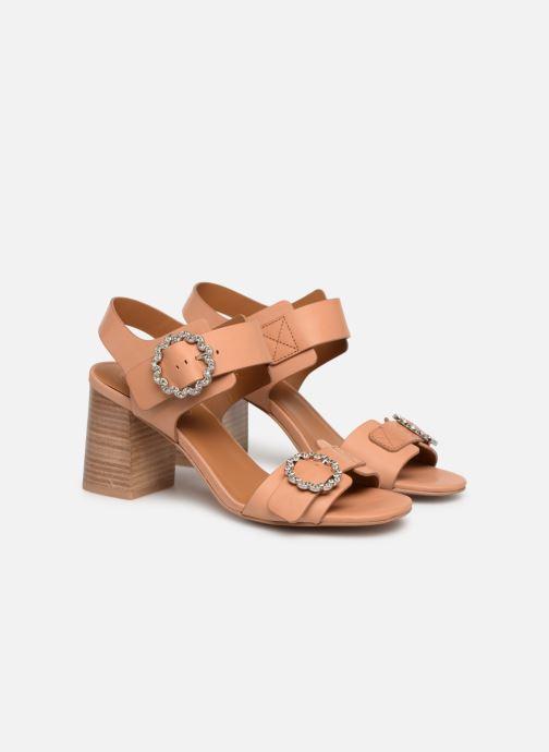 Sandales et nu-pieds See by Chloé Kristen Marron vue 3/4