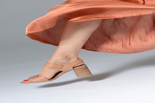 Sandalias See by Chloé Kristen Marrón vista de abajo