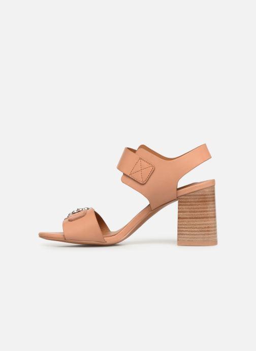 Sandales et nu-pieds See by Chloé Kristen Marron vue face