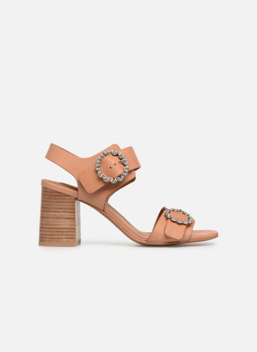 Sandales et nu-pieds See by Chloé Kristen Marron vue derrière