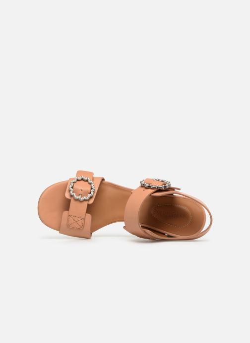 Sandales et nu-pieds See by Chloé Kristen Marron vue gauche