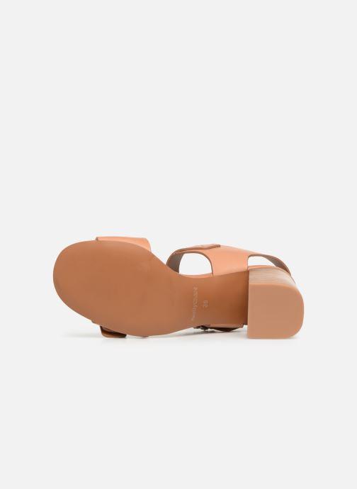 Sandales et nu-pieds See by Chloé Kristen Marron vue haut
