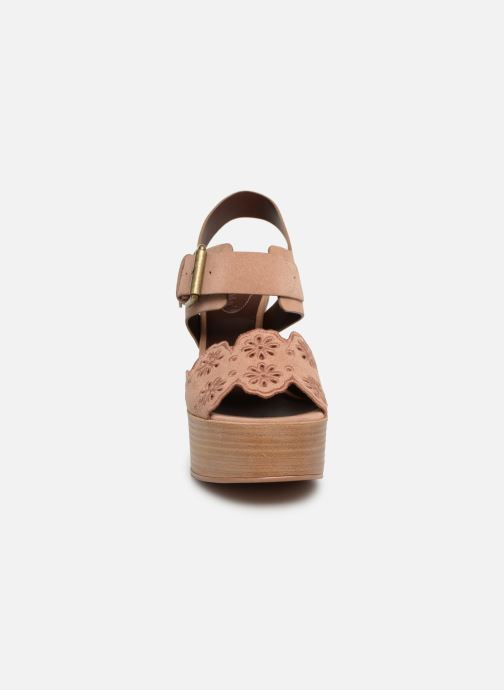 Sandales et nu-pieds See by Chloé Kristy Rose vue portées chaussures
