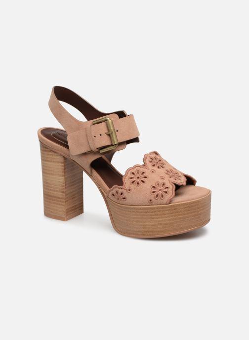 Sandaler See by Chloé Kristy Pink detaljeret billede af skoene