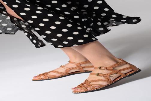 Sandales et nu-pieds See by Chloé Katie I Marron vue bas / vue portée sac