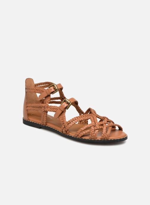 Sandaler See by Chloé Katie I Brun detaljeret billede af skoene