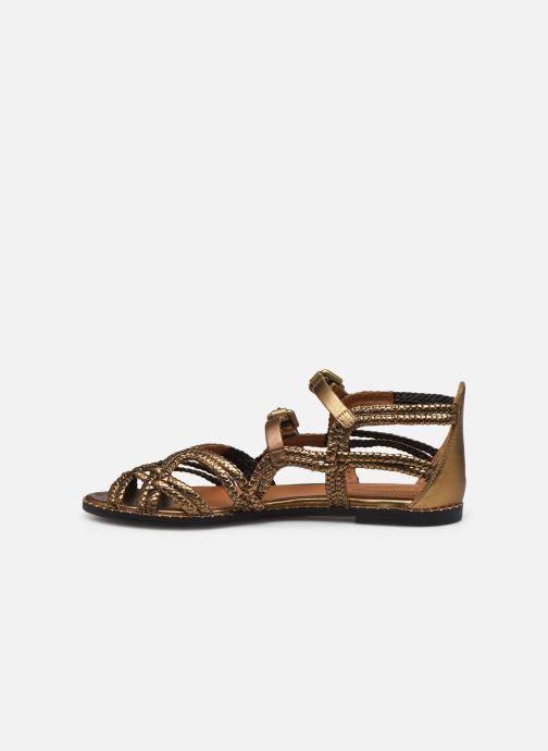 Sandales et nu-pieds See by Chloé Katie I Or et bronze vue face