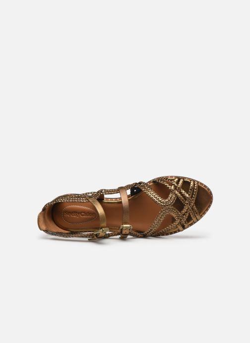 Sandales et nu-pieds See by Chloé Katie I Or et bronze vue gauche