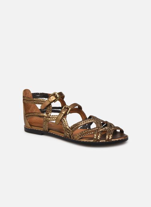 Sandales et nu-pieds See by Chloé Katie I Or et bronze vue détail/paire