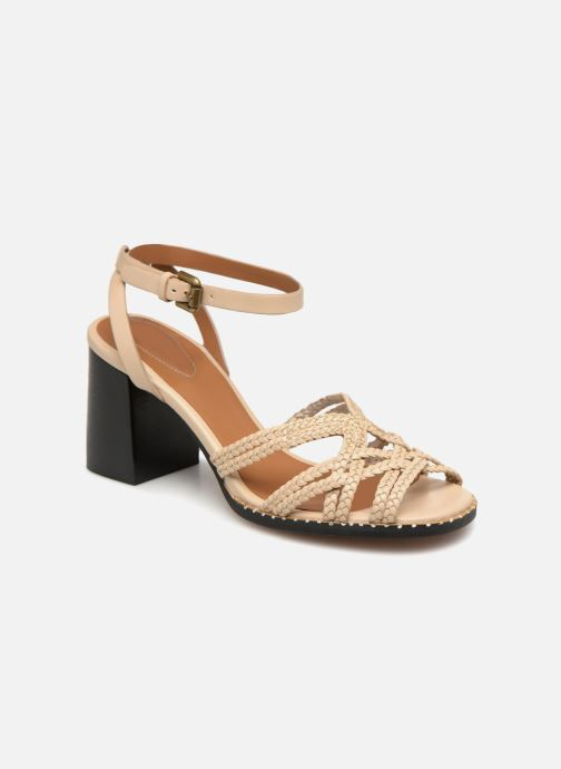 Sandaler See by Chloé Katie II Beige detaljeret billede af skoene