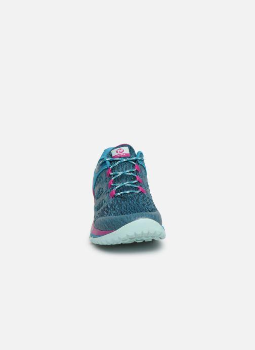 Chaussures de sport Merrell Antora Bleu vue portées chaussures