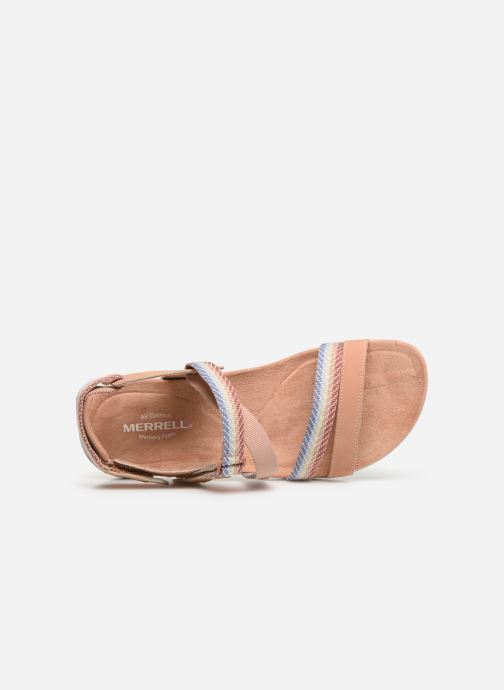 Sandals Merrell District Mendi Backstrap Pink view from the left