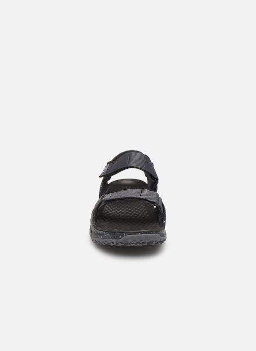 Sandalen Merrell Hydrotrekker Strap grau schuhe getragen