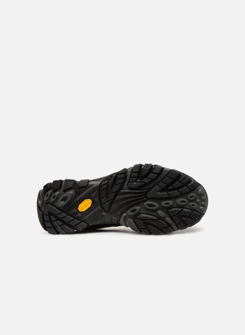 Sport shoes Merrell Moab Adventure Lace Wp Black view from above