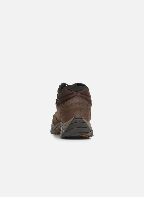 Sport shoes Merrell Moab Adventure Mid Wp Brown view from the right