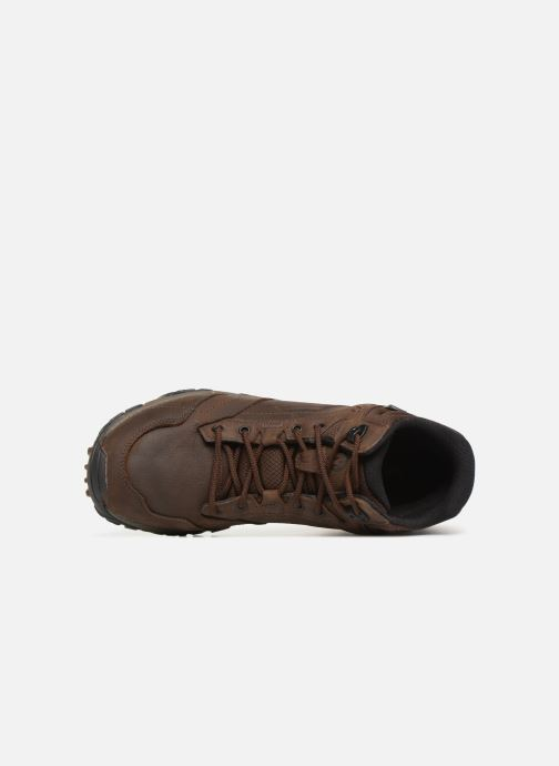 Sport shoes Merrell Moab Adventure Mid Wp Brown view from the left
