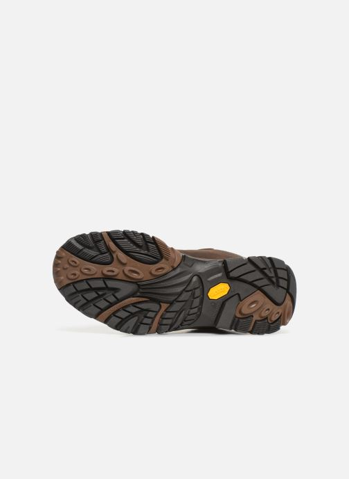 Sport shoes Merrell Moab Adventure Mid Wp Brown view from above