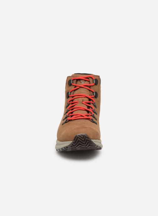 Chaussures de sport Merrell Ontario Mid Wp Marron vue portées chaussures