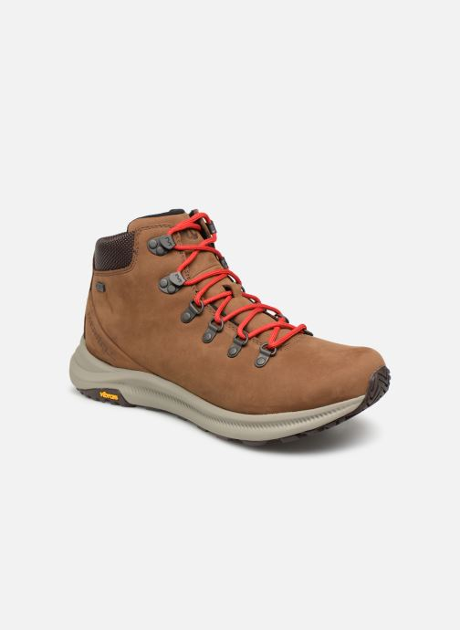 Sport shoes Merrell Ontario Mid Wp Brown detailed view/ Pair view