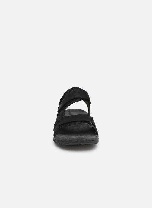 Sandalen Merrell Sandspur Lee Backstrap schwarz schuhe getragen