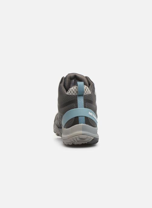 Chaussures de sport Merrell Siren 3 Mid Gtx Gris vue droite