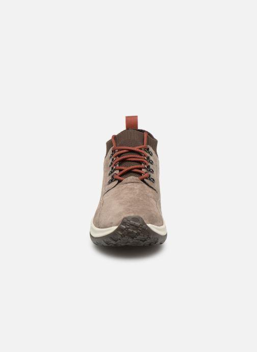 Chaussures de sport Merrell Jungle Mid Xx Wp Ac+ Beige vue portées chaussures